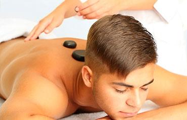 terapia de acupuntura piedras calientes