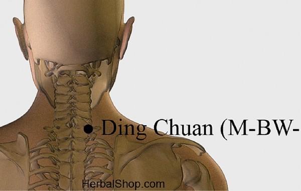 Ding Chuan, punto tratamiento del asma